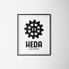 Heda  Printable Art Quote Lexa The 100 TV Show by PrintHeartShop