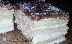 30 perces kókuszos álom recept fotóval No Bake Desserts, Dessert Recipes, My Recipes, Favorite Recipes, Hungarian Recipes, Hungarian Food, Cake Cookies, Vanilla Cake, Tiramisu