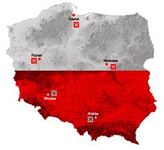 Map of Poland. Select region, which you like.