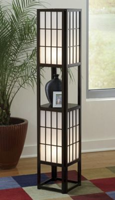 Japanese Lamp with Shelf