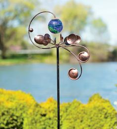 Our wind spinners, whirligigs and garden spinners bring incredible movement to your outdoor d�cor. Shop metal wind spinners, copper wind spinners and more. Kinetic Wind Spinners, Wind Sculptures, Garden Sculptures, Sculpture Ideas, Garden Wind Spinners, Metal Garden Art, Metal Art, Kinetic Art, Art Plastique