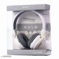 Wired Headphones & Earphones Editrix Sh12 Wireless Bluetooth Headset (White) Product Name: Editrix Sh12 Wireless Bluetooth Headset (White) Brand Name: Editrix Material: Plastic Product Type: Foldable over the head Type: Over The Ear Compatibility: All Smartphones Multipack: 1 Color: White Mic: Yes Bluetooth Version: 4.1 Warranty_Period: 1 Month Brand Warranty Warranty_Type: Carry In Operating Voltage: 10 Volts Charging Type: Micro USB Battery Charge Time: 1 Hour Battery Backup: 6 Hours Frequency: 10 Hz Control Button: Yes Play Time: 10 Hours Dynamic Driver: 30 mm Transmission Distance: 10 Mtr Noise Cancelling: No Service Type: Repair or Replacement Sports Earphones: Yes Sweat Proof: Yes Water Resistant: No Sizes:  Free Size Country of Origin: India Sizes Available: Free Size   Catalog Rating: ★4.1 (1323)  Catalog Name: Editrix Bluetooth Headphones & Earphones CatalogID_2392796 C97-SC1375 Code: 374-12424890-0411