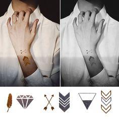 Najnowszy krzyk mody, metaliczne tatuaże  ● Bezpieczny Import z Chin ● 36.pl
