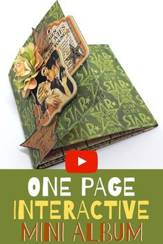 I found a really fun and easy one page interactive mini album tutorial you must try!