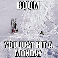 Haha sledding snowmobiling skidooing