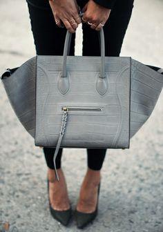 Feed your soul with love Love Fashion, Fashion Bags, Womens Fashion, Grey  Fashion 773c022971