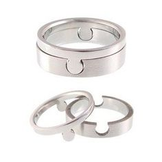 one for you. one for him. adorable. Or even best friend rings