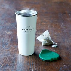 A double-walled, stainless steel tumbler in matte-white with a semi-gloss finish.