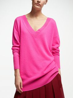 25349620341 John Lewis & Partners Cashmere Relaxed V-Neck Sweater at John Lewis &  Partners