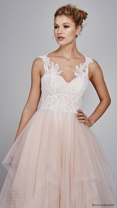 kelly faetanini fall 2017 sleeveless sweetheart lace bodice aline wedding dress (azalea) zv blush skirt lace hem