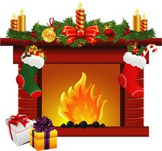 christmas fireplace clip art clip art christmas 1 clipart rh pinterest com Christmas Fireplace Decorations Christmas Fireplace Clip Art Black and White