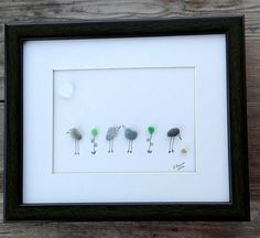 Pebble art 2 piec birds decor2 pic home decor by pebbleartSmiljana