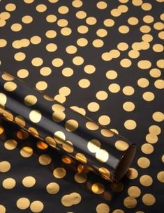 Gold & Black Spotty wrapping paper