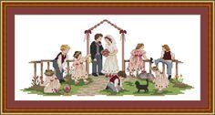 Cross Stitch Patterns: Wedding Ring Sampler at Cross