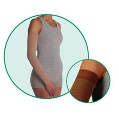 Juzo 2002CGLSB10 II Soft 2002CG Armsleeve 30-40mmHg with Silicone Top Band - Size- II - Small Length- L-Long Color- Black 10