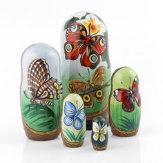 Peaceful Butterfly Russian Nesting Dolls