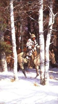 Howard Terpning : Blackfeet Among The Aspen