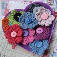 Flores del ganchillo Inspiracion ❥Teresa Restegui http://www.pinterest.com/teretegui/❥