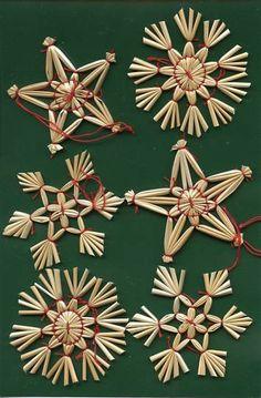 Scandinavian Swedish Norwegian Danish Finnish Straw Christmas Ornaments 6 pc #96