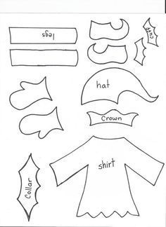 christmas elf craft template - Google Search