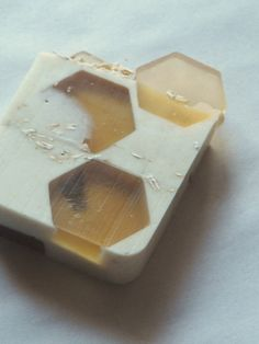 Oatmeal and Honey Soap Bar for dry skin.  Colloidal Oatmeal and Northern California Honey have been added to keep that dry, patchy skin away during the Summer...and it's gentle enough to use on the kiddos!  It smells delicious but don't take a bite!  From 2 Magpies on Etsy. $6.00