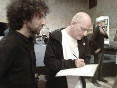Jeff Hirshfield firma il registro degli indirizzi email di Giacomo Franzoso