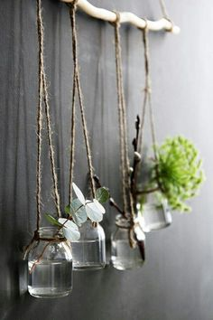 There are lots of amazing ways to turn branches into tree branch decor! Here are some of our favourite beautiful and functional ideas. Handmade Home Decor, Diy Home Decor, Home Decor Bedroom, Living Room Decor, Decor Room, Room Decorations, Flower Vase Design, Do It Yourself Decoration, Tree Branch Decor