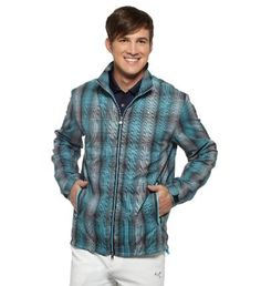 It's not like a little wind will keep you off the course. No matter how many times it sends your perfect drive into a !*?%-ing sand trap. Alas, we can't do much for your landing zones, but we can help with your comfort level on a blustery day. Meet: the Ombre Plaid Wind Jacket. A windCELL designation means this one keeps the chill out, while a two-way zip closure and tightenable/loosenable hem and cuffs mean you can adjust its fit for each and every swing if needed. Features: 100% Polyester…