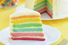 I once tried to make a rainbow cake once. My mum didn't really like it. Said it was too buttery. Christmas Turkey, Colorful Cakes, Easy Food To Make, Sweet Desserts, No Cook Meals, Cake Cookies, Vanilla Cake, Cake Decorating, Bakery