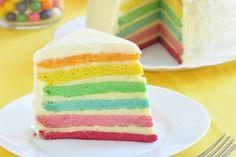 Ein selbstgemachter Regenbogenkuchen bringt Kinderaugen zum Leuchten. Wir haben ein leckeres Rezept für die farbenfrohe Kuchenkreation!