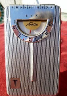 1963 Toshiba Model 6TP 31A 6 Transistor Radio Shiny Red Works w VGC Case | eBay