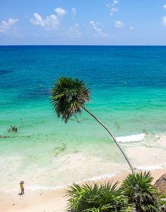 White Sand Beach in Tulum Mexico