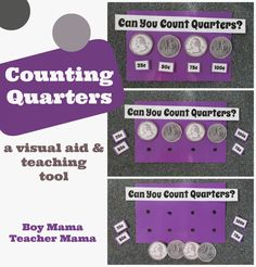 Boy Mama Teacher Mama  Counting Quarters