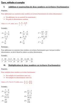7 best Additions soustractions multiplications de fractions images ...