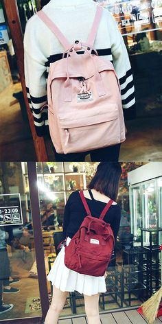 Which color do you want? Leisure Canvas School Rucksack Multi-function Travel Handbag Backpack #backpack #canvas #leisure #school #college