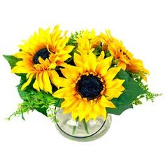 Sunflower Bouquet in Acrylic Water Vase