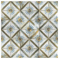 Customize any room in your dwelling by selecting this amazing Merola Tile Kings Marrakech Blue Ceramic Floor and Wall Tile. Detail King, Moroccan Tiles, Moroccan Lanterns, Moroccan Decor, Old World Charm, Stone Tiles, Rustic Charm, Marrakech, Wall Tiles