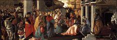 Los Tres Magos de Oriente: Adoración de los Magos, Botticelli,m National Gallery, Londres, Inglaterra