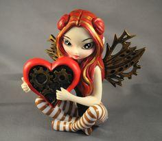 Jasmine Becket Griffith Strangeling Fairies Figurine 8411 A Clockwork Valentine | eBay