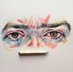 Noel Badges Pugh Art Sketches, Art Drawings, Gcse Art Sketchbook, Scribble Art, Oil Pastel Art, You Draw, Art Reference Poses, Art Plastique, Face Art