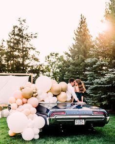 Looking for creative engagement shoot ideas? We have the cutest story for ya, coming from blogger and DIY bride Amanda Puleo who set up this enchanting scene with her guy Austin. Amanda has always loved the idea of a creative engagement, and what better way to celebrate than to recreate their first date, seeing La La Land at a local drive-in movie theater? Soak up all the fun DIY details and golden hour portraits as you scroll through the gallery by Kayla Coleman Photography 13th Birthday Parties, Fairy Birthday Party, Party Wedding, Gold Wedding, Wedding Band, Baby Girl 1st Birthday, 100 Layer Cake, Boho Baby Shower, Floral Garland