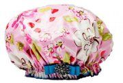 Floral Affair Shower Cap by Dry Diva.....I see why Hollywood LOVES these!!!! #hollywood