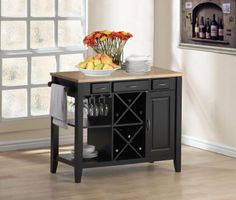 Metropolitan Kitchen Island With Wine Rack