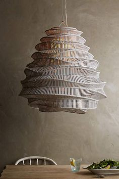 Maudjesstyling: Bamboo Cloud Chandelier - anthropologie.com #anthrofave #anthropologie