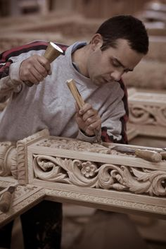 Wood carving, Metsovo, Greece