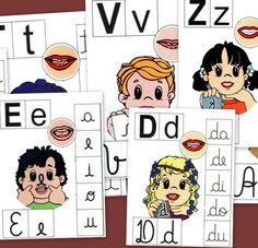 Abecedario sílabas, como poner la boca para decir las letras del Abecedario