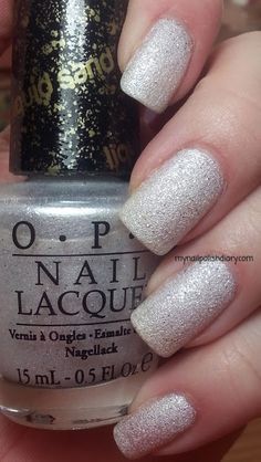 OPI- liquid sand in Solitaire. It's my new favorite color of the week!