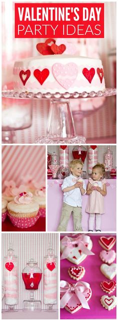 I heart Valentine's Day is the theme of this gorgeous party! See more party ideas at CatchMyParty.com!
