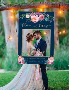 Wedding Photo Prop Navy And Gold Wedding Photo Booth Frame Wedding Photo Props Wedding Decorations Wedding Photo Booth Wedding Frame - Hochzeit Photos Booth, Diy Photo Booth, Picture Booth, Photo Frame Prop, Photo Booth Design, Wedding Photo Props, Wedding Photos, Photobooth Wedding Ideas, Wedding Show Booth