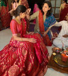 Photo from Tunisha & Siddhant Wedding Indian Wedding Gowns, Indian Gowns Dresses, Indian Bridal Outfits, Indian Bridal Fashion, Indian Fashion Dresses, Dress Indian Style, Indian Designer Outfits, Bridal Lehenga Collection, Lehnga Dress